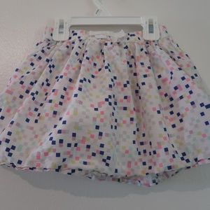 White with multi- color squares Gymboree Skirt